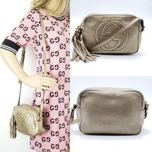 Gucci Disco Soho Camera Leather Crossbody Bag